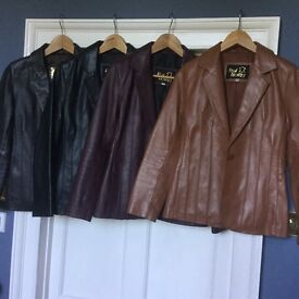 New or nearly new leather jackets