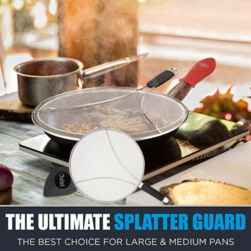 New Product 13 Inch Splatter Screen for Frying Pan Stainless Steel Splatter Guard Stops 99/% of Hot Oil Splash