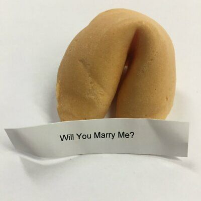 Marry Me Cookies (Will You Marry Me?  Fortune Cookie Engagement)