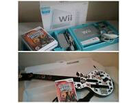 Nintendo Wii Console with Guitar Hero 3