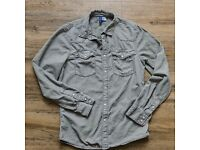 Velvet Fitted Shirt Snap Button DIVIDED H&M Size Small