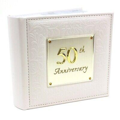 50th Wedding Anniversary Deluxe Photo Album For 6x4 Photos (50th Anniversary Photo Album)