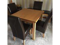 Folding dining table light oak