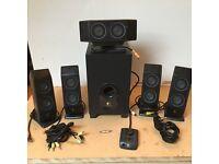 Logitech surround sound speakers with sub