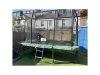 12ft x 8ft Jumpking Rectangular Trampoline with Enclosure with Ladder and Cover