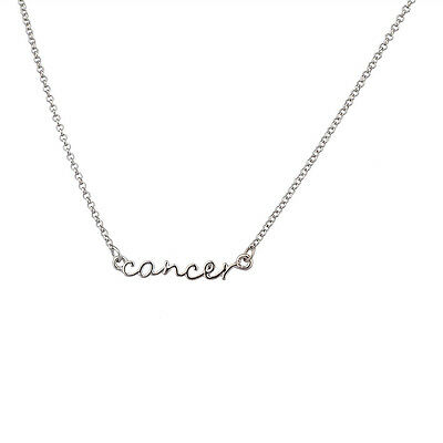 (Lux Horoscope Zodiac Sign Cancer Silver Necklace)