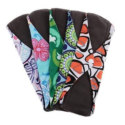 Wiederverwendbare Tuch Menstruation Pads (5 Stück Wiederverwendbare Bambusfaser Menstruation Pad Sanitär Mama Tuch)