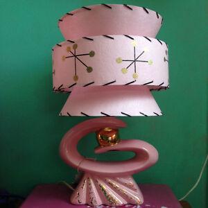 Mid Century Vintage Style Tapered 3 Tier Fiberglass Lamp Shade Modern Small