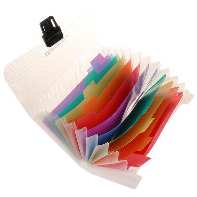 Portable Mini A6 13-pocket Expanding File Folder Travel Receipts Organizer