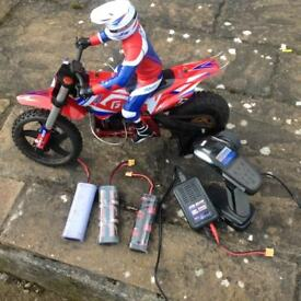 1/4 scale r c motor cycle.
