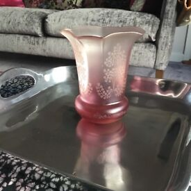 Antique ruby glass shade