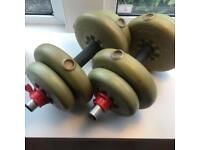 York Dumbells Set (6.8kg each arm)