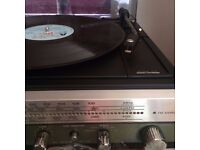 National Panasonic SG-1020L Vintage Stereo Hifi System, Turntable, Radio & Cassette Deck w/Speakers