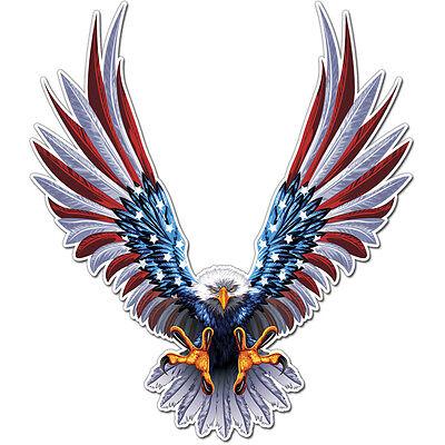 American Eagle Decal Sticker Vinyl Wall Usa Flag Symbol United States Car Window