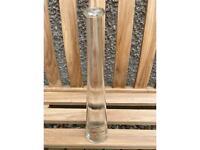 Decorative empty glass bottle
