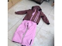 Girls White Rock ski suit, age 10, separate jacket/trousers
