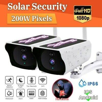 Outdoor Solar Wireless WiFi Security IP Camera 1080P HD Waterproof Night Vision