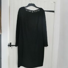 Smart/formal black dress, Fenn Wright Mason, size 16