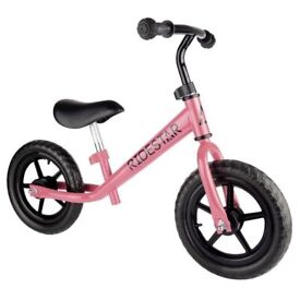 Ride Star Childrens Balance Bike Metal Running Walking Training Bicycle, postage available