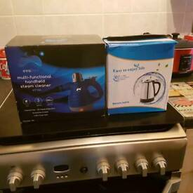 Steam cleaner and stainless steel kettle