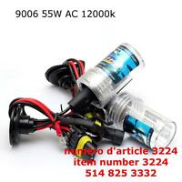 HB4 9006 55W HID Xenon Replacement Bulbs 12000K
