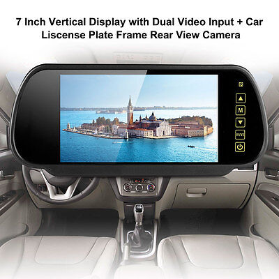 "7"" Wireless Car Rear View Kit LCD Monitor HD IR Night Vision Reversing Camera"