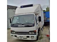 ISUZU NQR 70 4.8 Carrier Xarios 500 7.5 Ton fridge freezer box lorry.