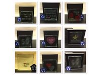 Crystal Glass Token Various Designs Keepsake/Birthday/Christmas/Anniversary Gift