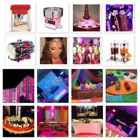 Asian dj Dhol players house lights fruit display dancer. Dj Best deals available