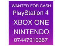 WANTED PlayStation 4 Xbox one Nintendo Switch and Games