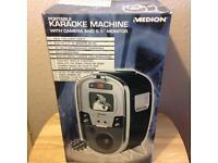 "Portable karaoke machine with 5.5"" monitor"