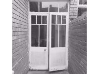 ORIGINAL VICTORIAN WOODEN PATIO DOORS