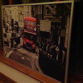 London bus framed picture