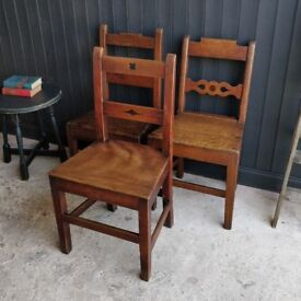 Set of 3 Georgian chairs, antique chairs, dining chairs, vintage chairs,