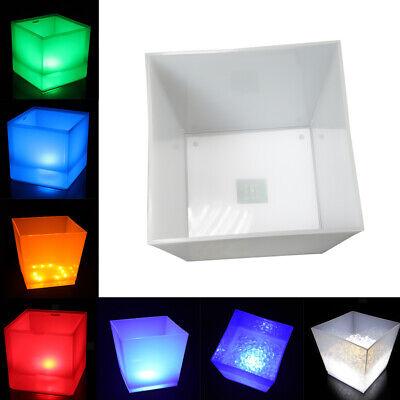 10L Kunststoff Eiskühler LED Eimer Getränke Champagner Kühlung 7 Farben