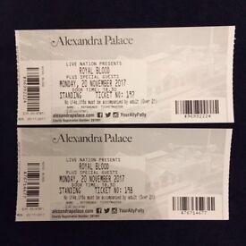 2 Tickets for Royal Blood 20th Nov Alexandra Palace, London