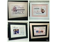 Personalised step family prints