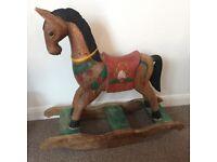Very Unique Wooden Rocking Horse