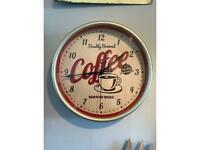 Retro style clock. Suit kitchen, coffee bar £10