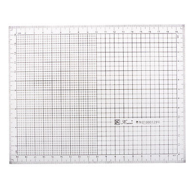 Acrylic Ruler Graph Scale Grid Ruler for Drawing Coordinate Science Supplies