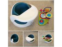 Mamas & Papas baby snug seat with play tray - Teal with play tray
