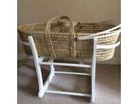 Moses Basket And John Lewis Stand for sale. Like New