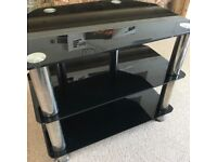 Glass and chrome tv stand