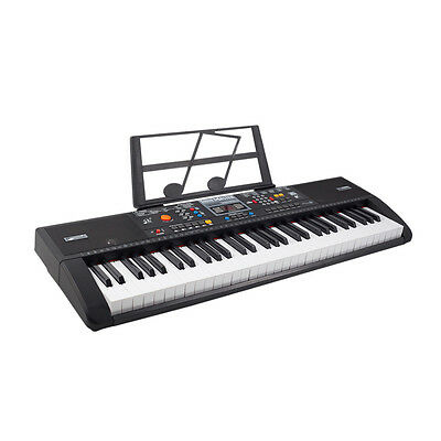 Beginners Electronic 61 Key Music Keyboard Piano Electric Organ - w/ USB Input