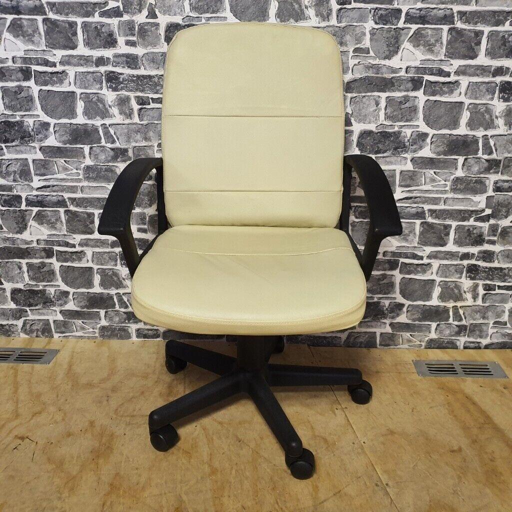 Leather Gas Adjustable Office Chair | in Bearsden, Glasgow | Gumtree