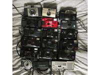 18 assorted film cameras