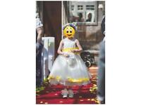 Age 5-6 Bridesmaid / Flowergirl ivory dress and very puffy underskirt