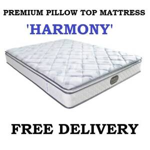 KING Size Bed Mattress PREMIUM Pillow Top NEW - DELIVERED FREE Carrara Gold Coast City Preview
