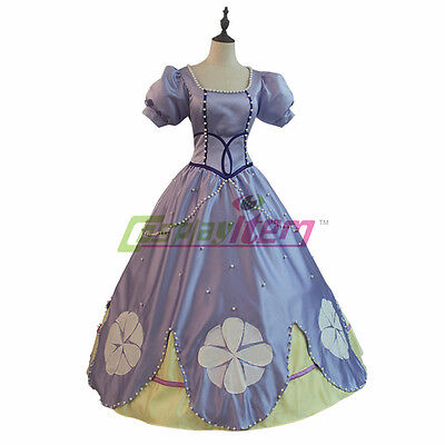 Sofia the First Princess Sofia Dress Costume Adult Princess Costume custom made