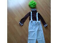 Oompa Loompa in Charlie & the Choc. Factory dressing up costume, Ideal for World Book day, Size XL.